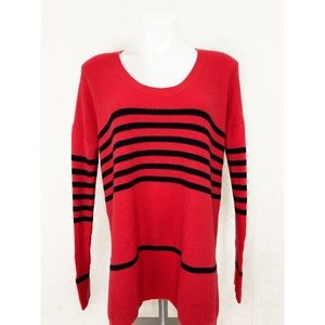 💜Gap Scoop Neck Long Sleeve Striped Sweater